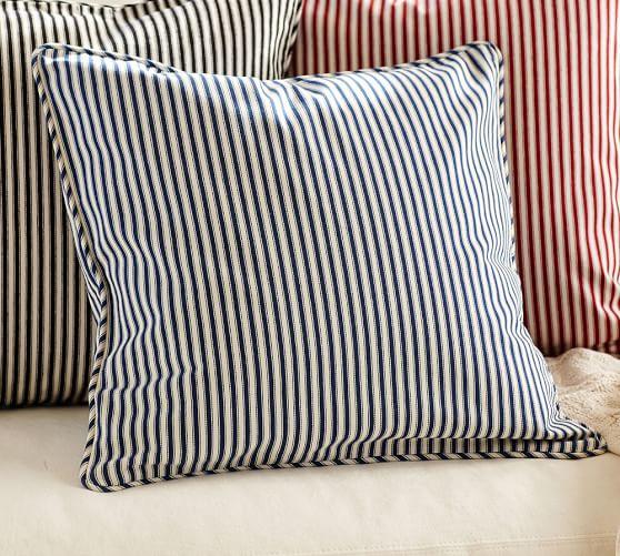Thomas Ticking Stripe Pillow Cover  Pottery Barn