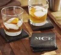 Dark Stone Drink Coaster, Set of 4 | Pottery Barn
