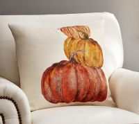 Market Pumpkins Pillow Cover | Pottery Barn