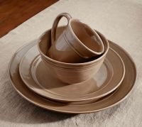 Cambria Dinnerware Set - Mushroom | Pottery Barn