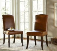 Staten Leather Side Chair | Pottery Barn