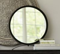 Round Mirror on Stand | Pottery Barn