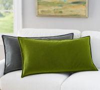 Oversized Washed Velvet Lumbar Pillow Cover | Pottery Barn