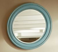 Antiqued Painted Round Mirror | Pottery Barn