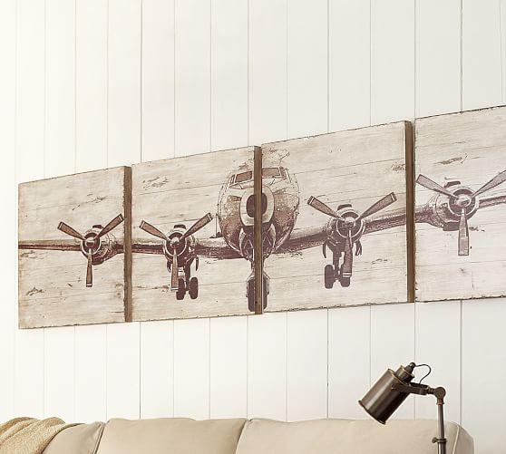 Planked Airplane Panels Set