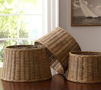 Woven Wicker Tapered Drum Lamp Shade | Pottery Barn