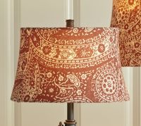 Red Paisley Drum Lamp Shade | Pottery Barn