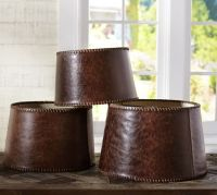 Leather Tapered Drum Lamp Shade | Pottery Barn