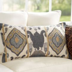 How To Clean Linen Cotton Sofa Beds And Chairs Match Chiara Ikat Lumbar Pillow Cover   Pottery Barn