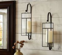 Paned Glass Wall Candle Sconce | Pottery Barn