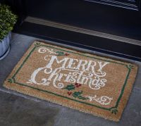 Merry Christmas Doormat | Pottery Barn