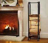 Laramer Fireplace Log Holder | Pottery Barn