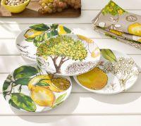 Lemon Melamine Salad Plate, Mixed set of 4   Pottery Barn