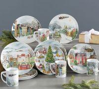 Winter Village 12-Piece Dinnerware Set | Pottery Barn