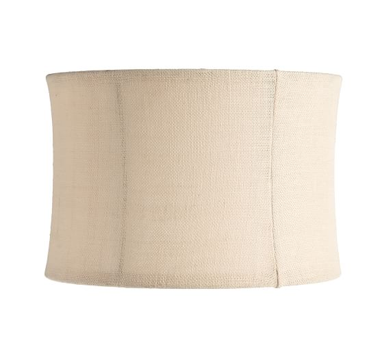 Burlap Flared Drum Lamp Shade