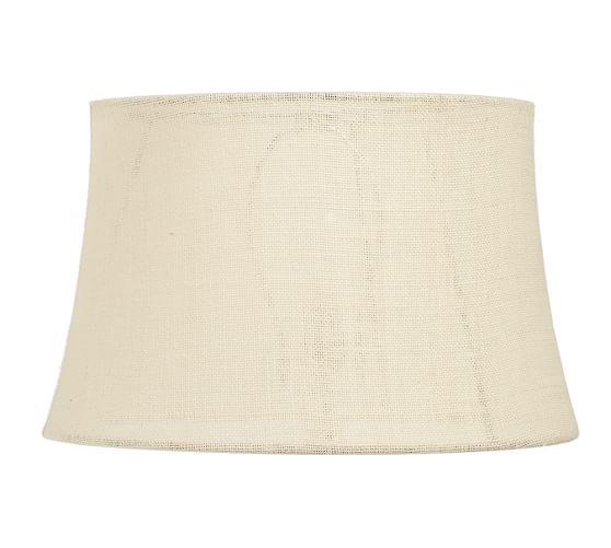 Burlap Upholstered Tapered Drum Lamp Shade
