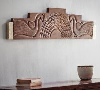 Carved Peacock Wall Art