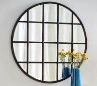 Eagan Multipanel Round Mirror - Bronze | Pottery Barn