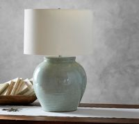Marin Ceramic Celadon Jug Lamp Base | Pottery Barn