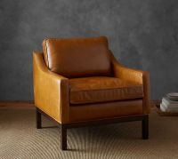 Dale Leather Armchair | Pottery Barn