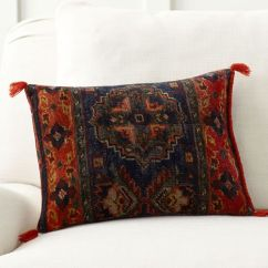 100 Cotton Sofas Sofa Cama Costa Rica Usados Sila Persian Print Lumbar Pillow Cover | Pottery Barn