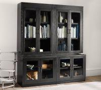 Reynolds Glass Door Bookcase | Pottery Barn