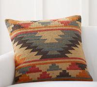 "Alder Kilim Pillow Cover - 24""   Pottery Barn"