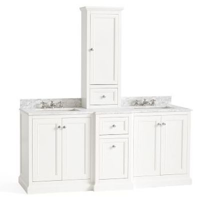 Ultimate Double Sink Storage Console with Hutch