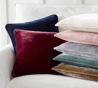 Nia Velvet Pillow Cover | Pottery Barn