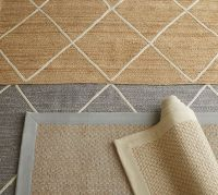 Chenille Jute Basketweave Rug - Gray | Pottery Barn
