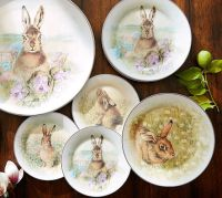 Meadow Bunny Dinnerware, Mixed Set of 4 | Pottery Barn