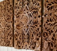 Ornate Carved Wood Panel Wall Art - Set of 4 | Pottery Barn