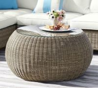 Torrey All-Weather Wicker Round Coffee Table - Natural ...