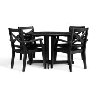 Hampstead Painted Round Drop-Leaf Dining Table & Chair Set ...