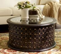 Bamileke Carved Wood Coffee Table | Pottery Barn