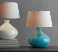 Cerena Ceramic Round Table Lamps | Pottery Barn