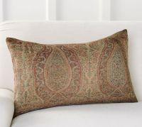 Charlene Paisley Lumbar Pillow Cover | Pottery Barn