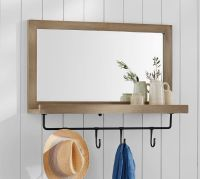 Lucy Entry Collection, Mirror with Hooks | Pottery Barn