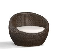 Torrey All-Weather Wicker Papasan Chair - Espresso ...