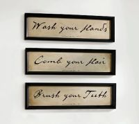 Bathroom Wall Art, Set of 3