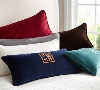 Solid Velvet Lumbar Pillow Cover | Pottery Barn