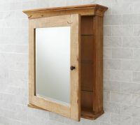 Mason Reclaimed Wood Wall-Mounted Medicine Cabinet - Wax ...