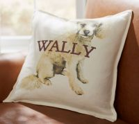 Personalized Painted Dog Pillow Covers | Pottery Barn