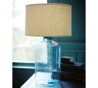 Clift Glass Table Lamp Base - Light Blue | Pottery Barn