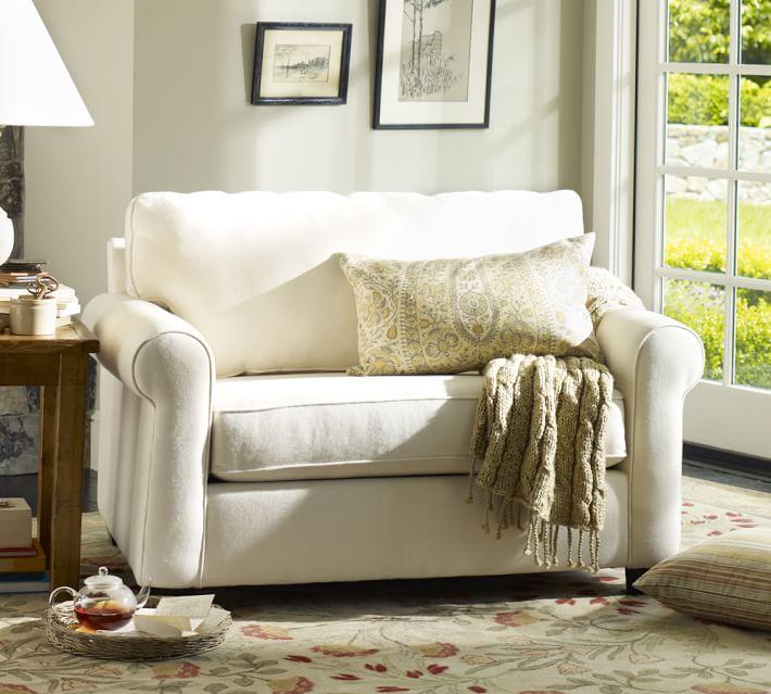 Buchanan Roll Arm Upholstered Twin Sleeper Sofa Pottery Barn