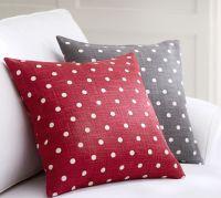 Polka Dot Pillow Cover   Pottery Barn