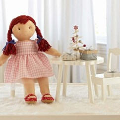Pottery Barn Kids Doll High Chair 8 Dining Table Set Flower & Chairs |