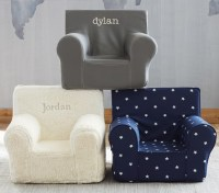 Navy Star Glow In The Dark Anywhere Chair | Pottery Barn Kids