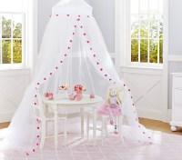 Pink Pom Pom Canopy | Pottery Barn Kids