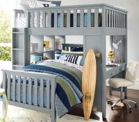 Elliott Full Loft System & Twin Bed Set | Pottery Barn Kids
